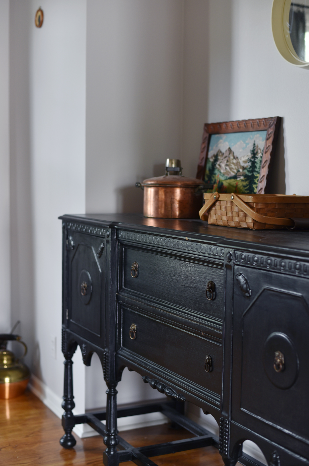 Black Antique Sideboard